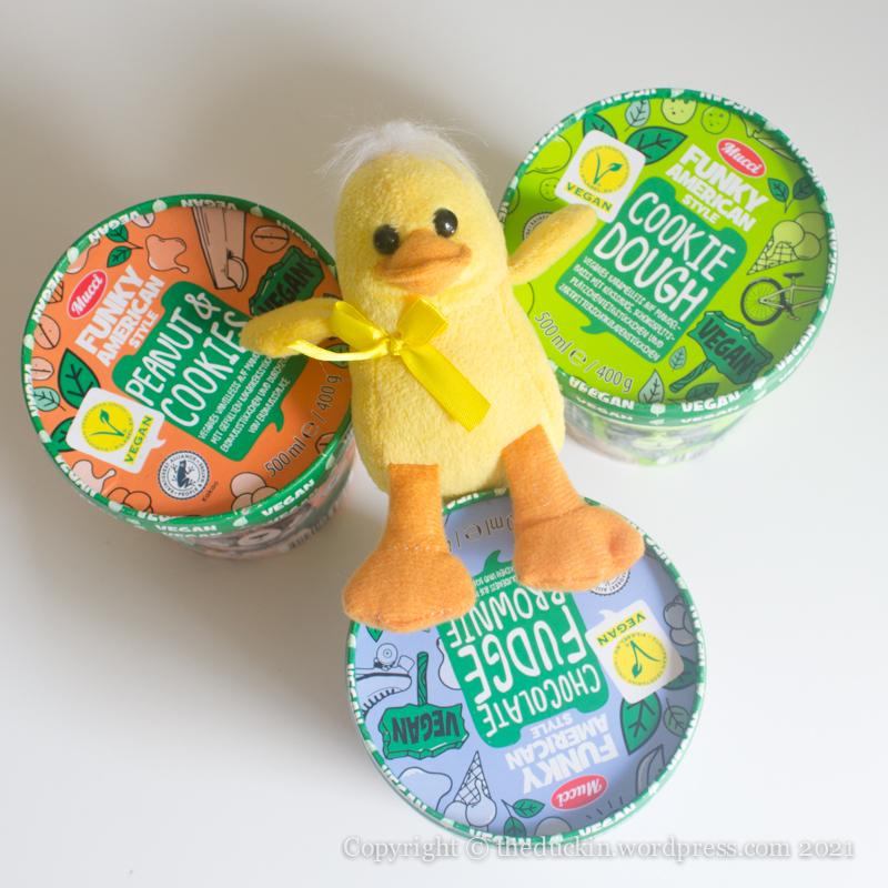 Vegan ice cream duck